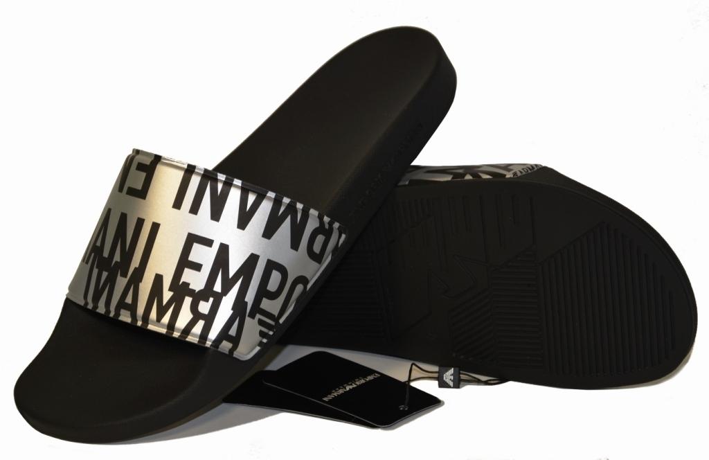 Пляжные тапочки мужские черные с