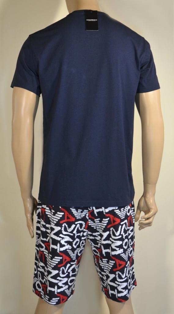 Пижама мужская: футболка и удлиненные шорты от Emporio Armani 111893 1P509 75335 0