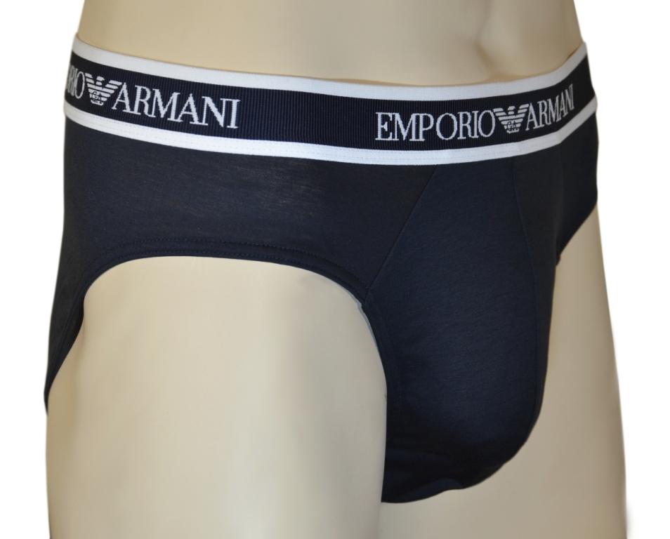 Трусы мужские слипы синие Emporio Armani 110814 1P538 00135 0