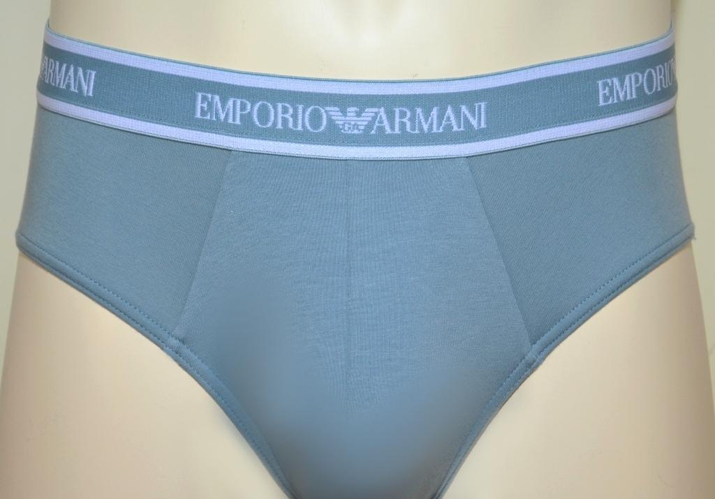 Трусы мужские слипы (комплект - 3 шт) от Emporio Armani 111734 P717 0