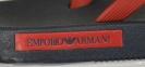 Шлепанцы мужские черно-красные Emporio Armani X4QS03 XM290 N602 3