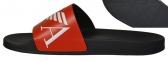 Шлепанцы мужские черные с красным Emporio Armani X4PS06 XM760 N598 1