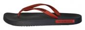 Шлепанцы мужские черно-красные Emporio Armani X4QS03 XM290 N602 1