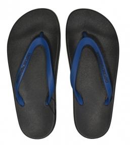 Пляжные тапочки мужские черно-синие от Emporio Armani X4QS03 XM290 N601