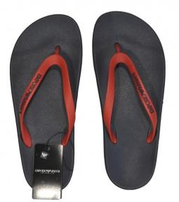 Шлепанцы мужские черно-красные Emporio Armani X4QS03 XM290 N602