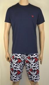 Пижама мужская: футболка и удлиненные шорты от Emporio Armani 111893 1P509 75335
