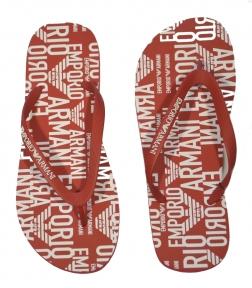 Шлепанцы мужские красные от Emporio Armani X4QS04 XM763 N604